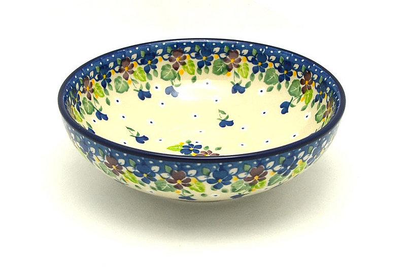 Ceramika Artystyczna Polish Pottery Bowl - Contemporary Salad - Plum Luck B90-2509a (Ceramika Artystyczna)