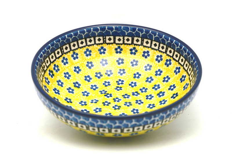 Polish Pottery Bowl - Contemporary Salad - Sunburst