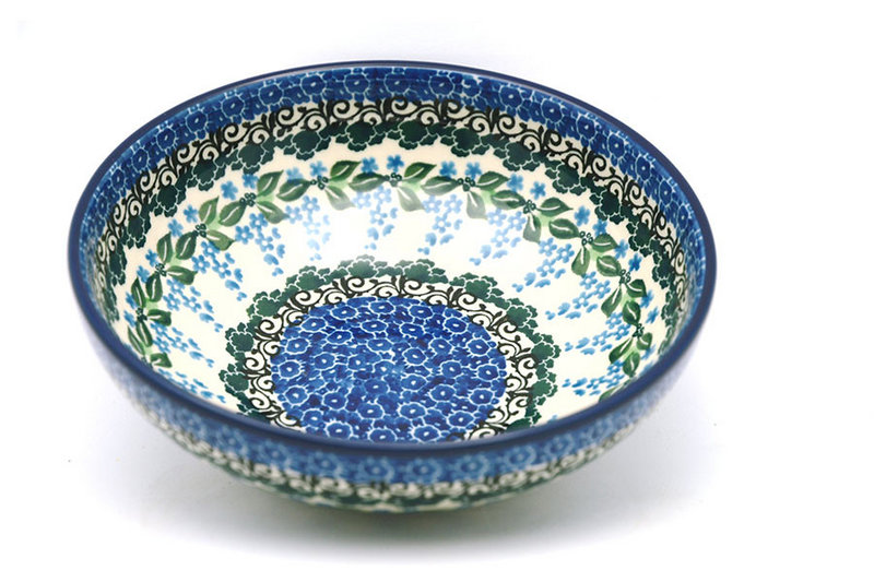 Polish Pottery Bowl - Contemporary Salad - Wisteria