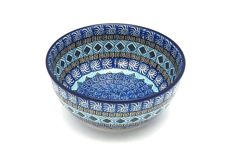 Ceramika Artystyczna Polish Pottery Bowl - Coupe Cereal - Aztec Sky C38-1917a (Ceramika Artystyczna)