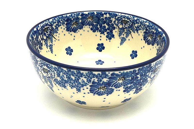 Ceramika Artystyczna Polish Pottery Bowl - Coupe Cereal - Blue Bayou C38-1975a (Ceramika Artystyczna)
