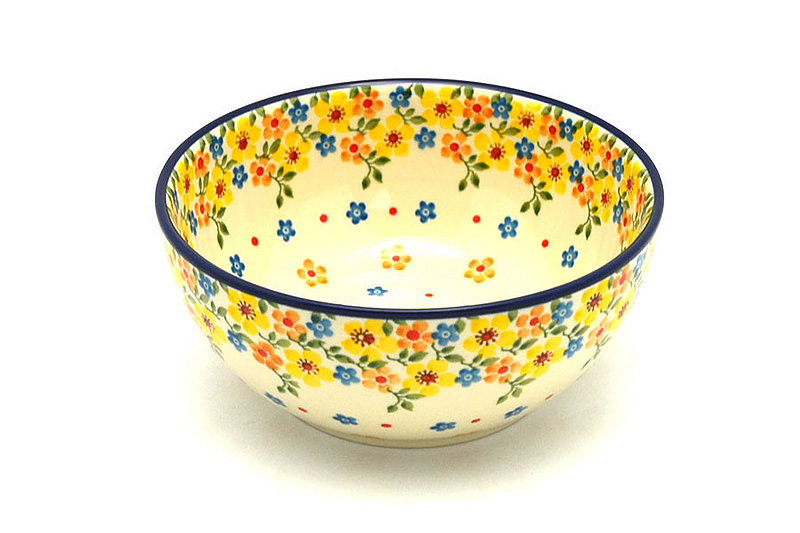 Ceramika Artystyczna Polish Pottery Bowl - Coupe Cereal - Buttercup C38-2225a (Ceramika Artystyczna)