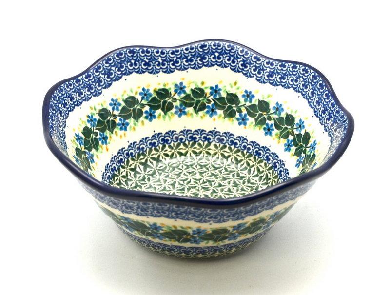 "Ceramika Artystyczna Polish Pottery Bowl - Curvy Edge - 10"" - Ivy Trail 692-1898a (Ceramika Artystyczna)"