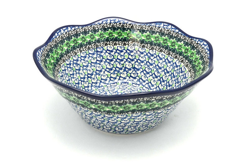 "Ceramika Artystyczna Polish Pottery Bowl - Curvy Edge - 10"" - Kiwi 692-1479a (Ceramika Artystyczna)"