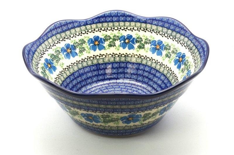 "Ceramika Artystyczna Polish Pottery Bowl - Curvy Edge - 10"" - Morning Glory 692-1915a (Ceramika Artystyczna)"