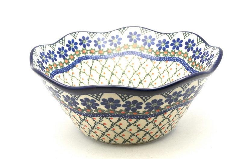 "Ceramika Artystyczna Polish Pottery Bowl - Curvy Edge - 10"" - Primrose 692-854a (Ceramika Artystyczna)"
