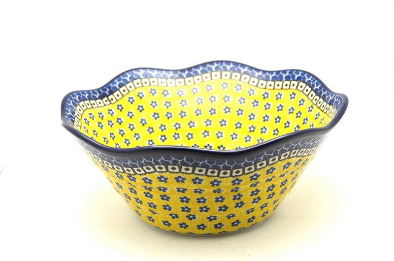 "Ceramika Artystyczna Polish Pottery Bowl - Curvy Edge - 10"" - Sunburst 692-859a (Ceramika Artystyczna)"