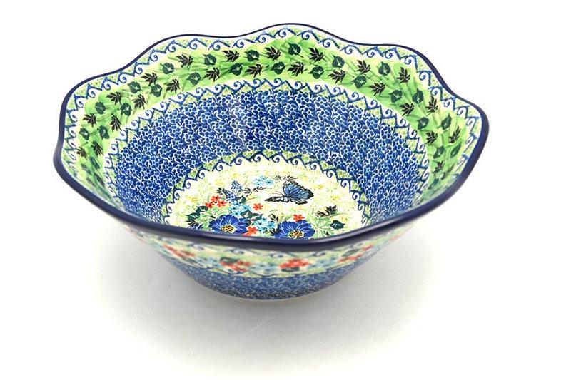 "Ceramika Artystyczna Polish Pottery Bowl - Curvy Edge - 10"" - Unikat Signature U4600 692-U4600 (Ceramika Artystyczna)"