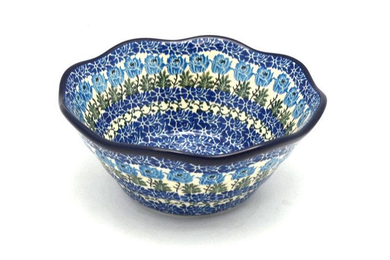 "Ceramika Artystyczna Polish Pottery Bowl - Curvy Edge - 8"" - Antique Rose 691-1390a (Ceramika Artystyczna)"