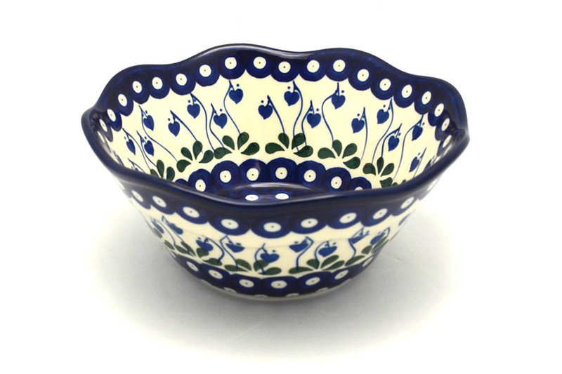 "Ceramika Artystyczna Polish Pottery Bowl - Curvy Edge - 8"" - Bleeding Heart 691-377o (Ceramika Artystyczna)"
