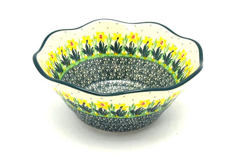 "Ceramika Artystyczna Polish Pottery Bowl - Curvy Edge - 8"" - Daffodil 691-2122q (Ceramika Artystyczna)"