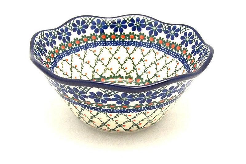 "Ceramika Artystyczna Polish Pottery Bowl - Curvy Edge - 8"" - Primrose 691-854a (Ceramika Artystyczna)"