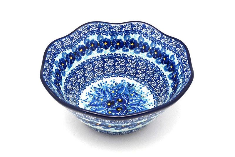 "Ceramika Artystyczna Polish Pottery Bowl - Curvy Edge - 8"" - Unikat Signature U3639 691-U3639 (Ceramika Artystyczna)"
