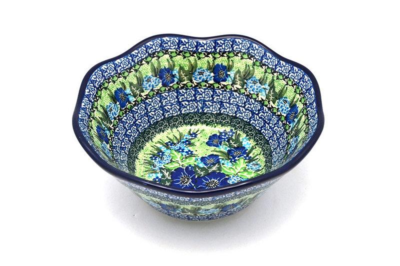 "Ceramika Artystyczna Polish Pottery Bowl - Curvy Edge - 8"" - Unikat Signature U4629 691-U4629 (Ceramika Artystyczna)"