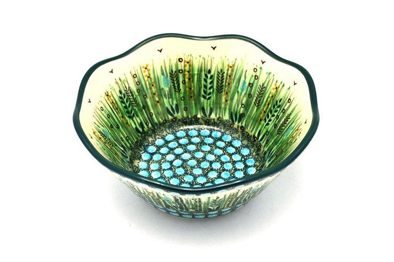 "Ceramika Artystyczna Polish Pottery Bowl - Curvy Edge - 8"" - Unikat Signature U803 691-U0803 (Ceramika Artystyczna)"
