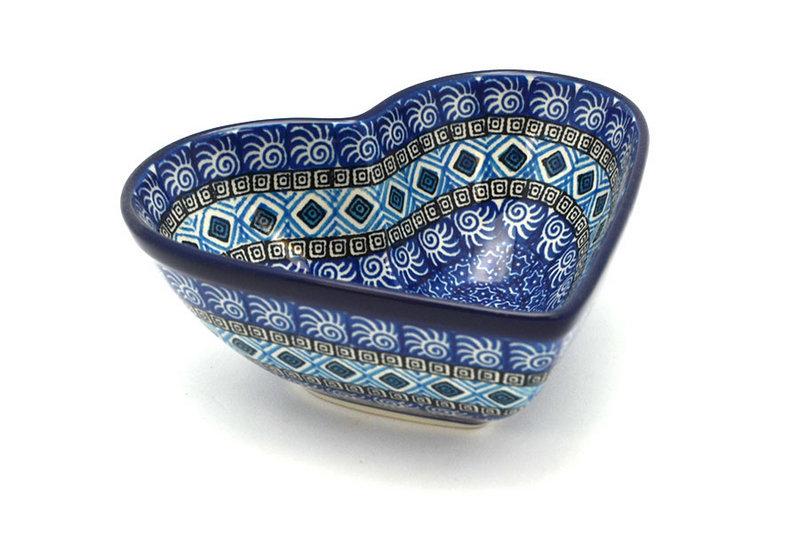 Ceramika Artystyczna Polish Pottery Bowl - Deep Heart - Aztec Sky B37-1917a (Ceramika Artystyczna)