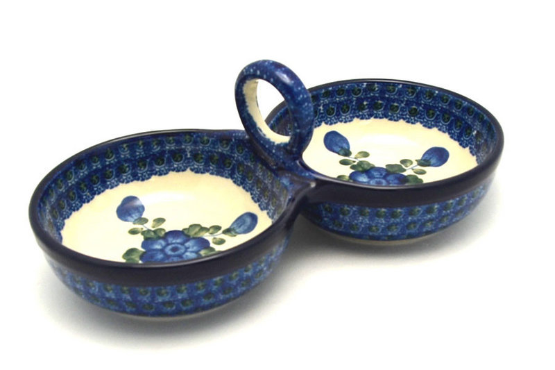 Ceramika Artystyczna Polish Pottery Bowl - Double Serving - Blue Poppy 942-163a (Ceramika Artystyczna)