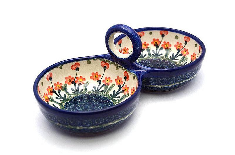 Ceramika Artystyczna Polish Pottery Bowl - Double Serving - Peach Spring Daisy 942-560a (Ceramika Artystyczna)