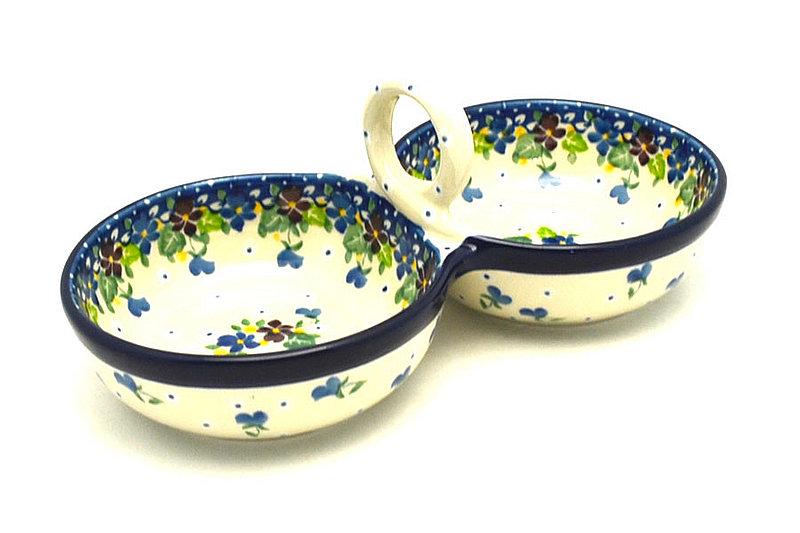 Ceramika Artystyczna Polish Pottery Bowl - Double Serving - Plum Luck 942-2509a (Ceramika Artystyczna)