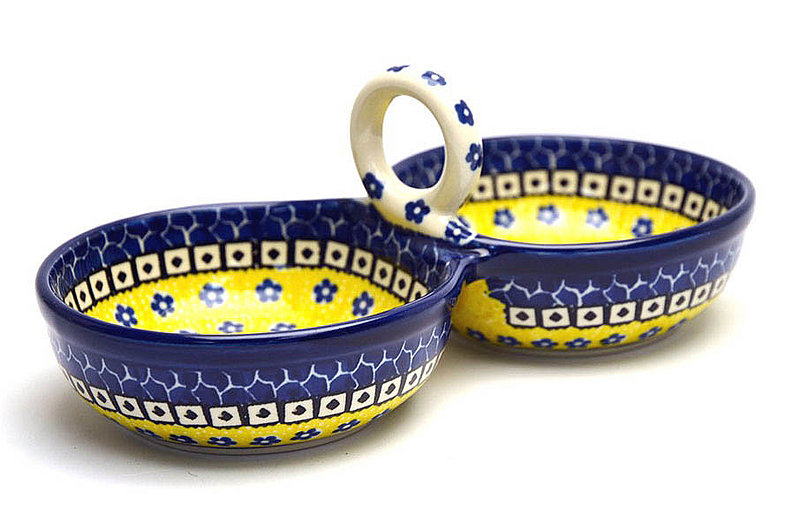 Ceramika Artystyczna Polish Pottery Bowl - Double Serving - Sunburst 942-859a (Ceramika Artystyczna)