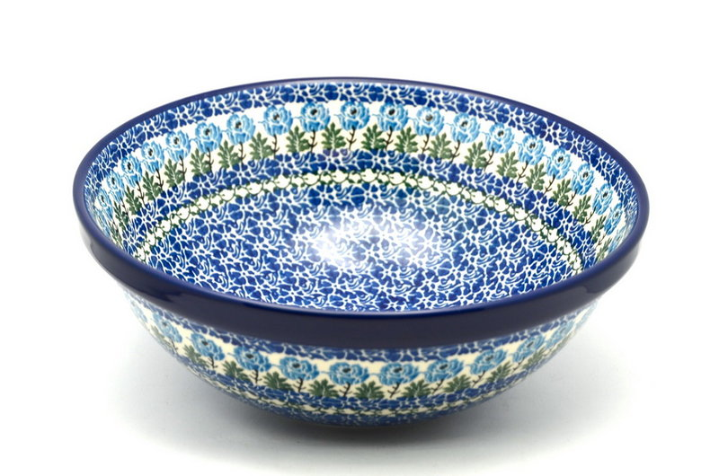 "Ceramika Artystyczna Polish Pottery Bowl - Grand Nesting (10 3/4"") - Antique Rose 055-1390a (Ceramika Artystyczna)"