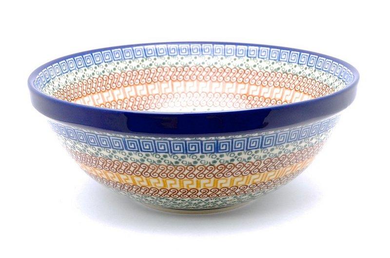 "Ceramika Artystyczna Polish Pottery Bowl - Grand Nesting (10 3/4"") - Autumn 055-050a (Ceramika Artystyczna)"