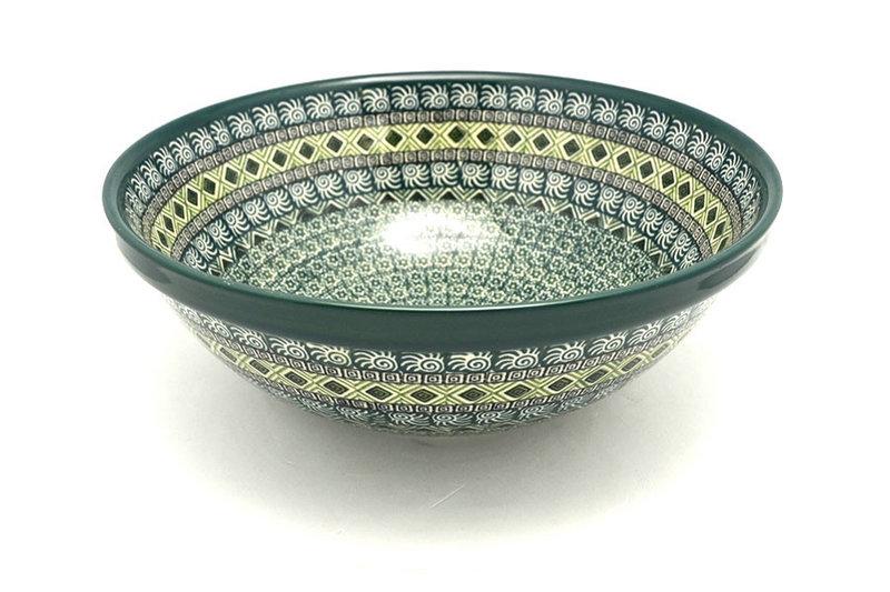 "Ceramika Artystyczna Polish Pottery Bowl - Grand Nesting (10 3/4"") - Aztec Forest 055-1919q (Ceramika Artystyczna)"