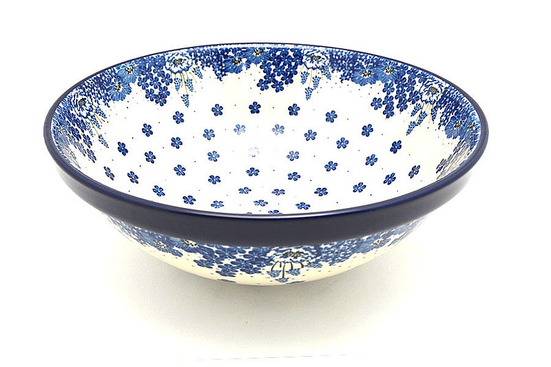 "Ceramika Artystyczna Polish Pottery Bowl - Grand Nesting (10 3/4"") - Blue Bayou 055-1975a (Ceramika Artystyczna)"