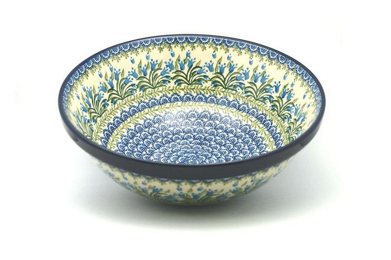 "Ceramika Artystyczna Polish Pottery Bowl - Grand Nesting (10 3/4"") - Blue Bells 055-1432a (Ceramika Artystyczna)"