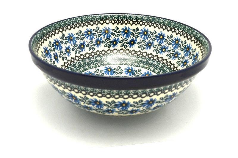 "Ceramika Artystyczna Polish Pottery Bowl - Grand Nesting (10 3/4"") - Blue Chicory 055-976a (Ceramika Artystyczna)"
