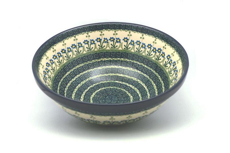 "Ceramika Artystyczna Polish Pottery Bowl - Grand Nesting (10 3/4"") - Blue Spring Daisy 055-614a (Ceramika Artystyczna)"