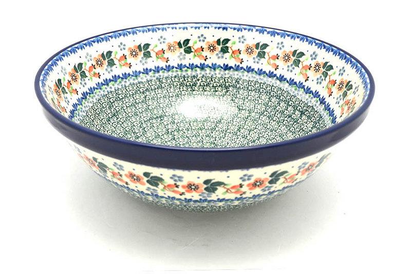 "Ceramika Artystyczna Polish Pottery Bowl - Grand Nesting (10 3/4"") - Cherry Blossom 055-2103a (Ceramika Artystyczna)"