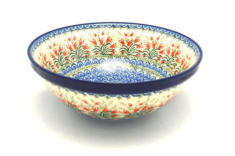 "Ceramika Artystyczna Polish Pottery Bowl - Grand Nesting (10 3/4"") - Crimson Bells 055-1437a (Ceramika Artystyczna)"