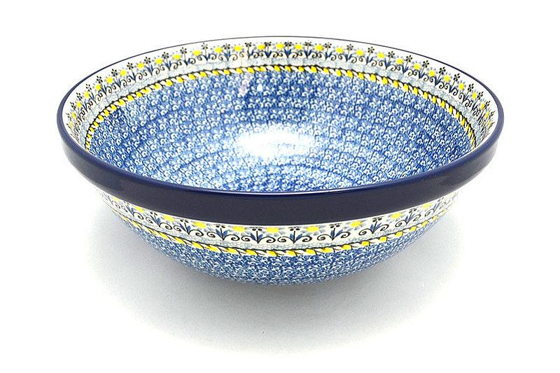 "Ceramika Artystyczna Polish Pottery Bowl - Grand Nesting (10 3/4"") - Daisy Maize 055-2178a (Ceramika Artystyczna)"