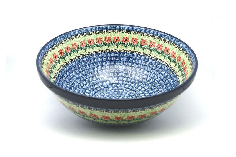 "Ceramika Artystyczna Polish Pottery Bowl - Grand Nesting (10 3/4"") - Maraschino 055-1916a (Ceramika Artystyczna)"