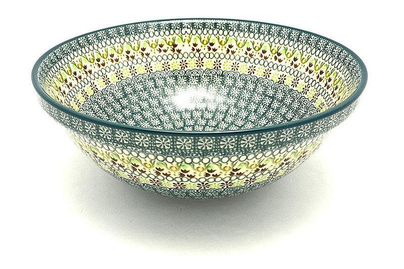 "Ceramika Artystyczna Polish Pottery Bowl - Grand Nesting (10 3/4"") - Mint Chip 055-2195q (Ceramika Artystyczna)"