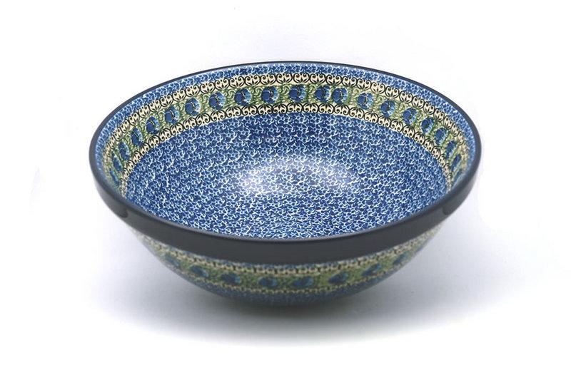 "Ceramika Artystyczna Polish Pottery Bowl - Grand Nesting (10 3/4"") - Peacock Feather 055-1513a (Ceramika Artystyczna)"