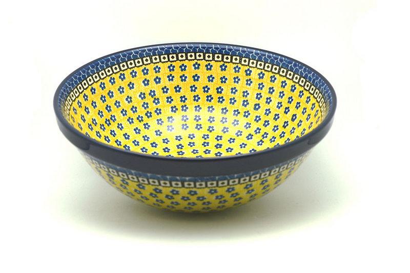 """Ceramika Artystyczna Polish Pottery Bowl - Grand Nesting (10 3/4"""") - Sunburst 055-859a (Ceramika Artystyczna)"""