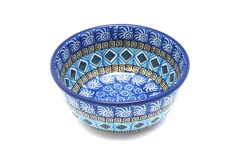 Ceramika Artystyczna Polish Pottery Bowl - Ice Cream/Dessert - Aztec Sky 017-1917a (Ceramika Artystyczna)