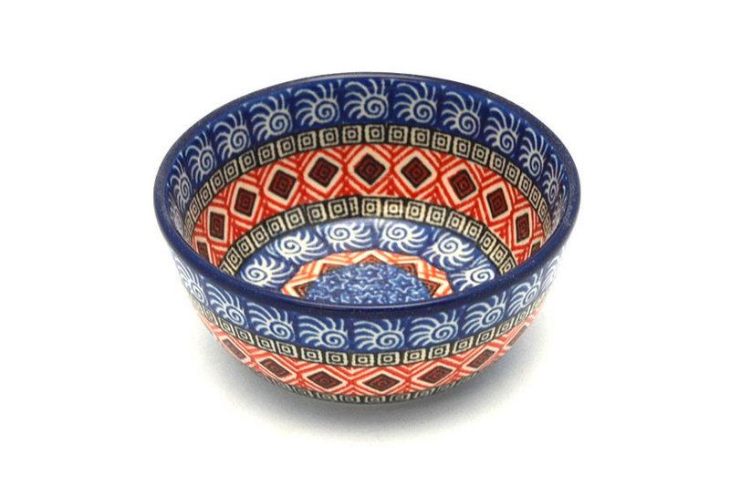Ceramika Artystyczna Polish Pottery Bowl - Ice Cream/Dessert - Aztec Sun 017-1350a (Ceramika Artystyczna)