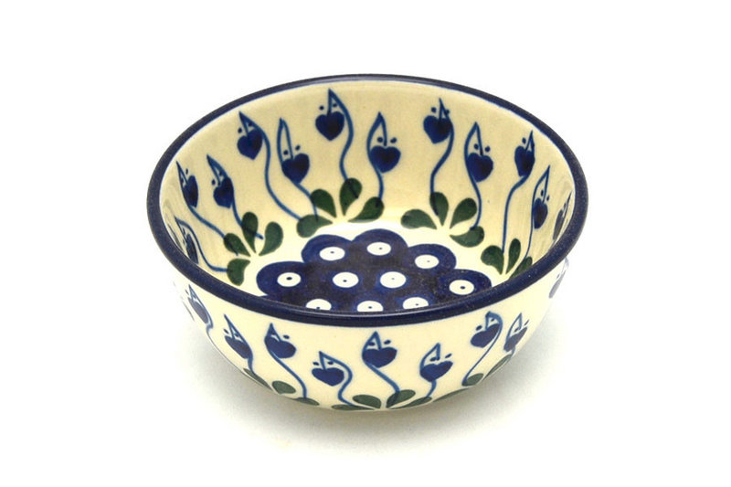 Ceramika Artystyczna Polish Pottery Bowl - Ice Cream/Dessert - Bleeding Heart 017-377o (Ceramika Artystyczna)