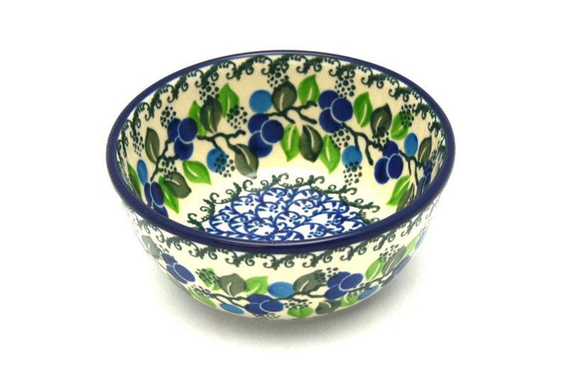 Ceramika Artystyczna Polish Pottery Bowl - Ice Cream/Dessert - Blue Berries 017-1416a (Ceramika Artystyczna)