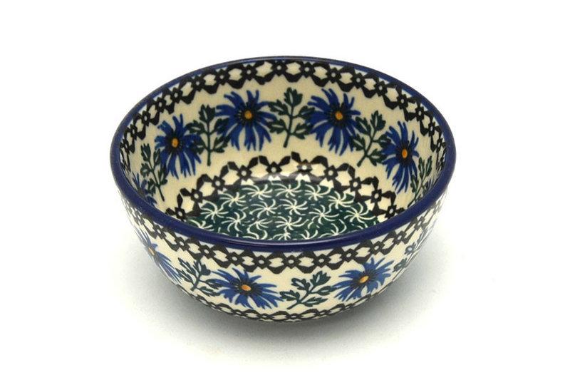 Ceramika Artystyczna Polish Pottery Bowl - Ice Cream/Dessert - Blue Chicory 017-976a (Ceramika Artystyczna)
