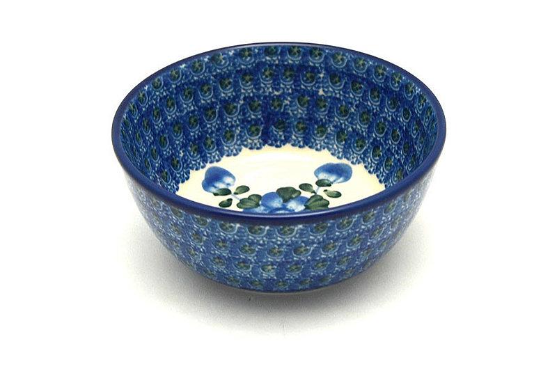 Ceramika Artystyczna Polish Pottery Bowl - Ice Cream/Dessert - Blue Poppy 017-163a (Ceramika Artystyczna)
