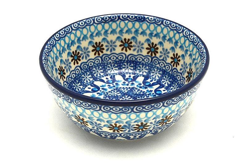 Ceramika Artystyczna Polish Pottery Bowl - Ice Cream/Dessert - Blue Yonder 017-2187a (Ceramika Artystyczna)