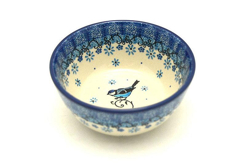 Ceramika Artystyczna Polish Pottery Bowl - Ice Cream/Dessert - Bluebird 017-2529a (Ceramika Artystyczna)