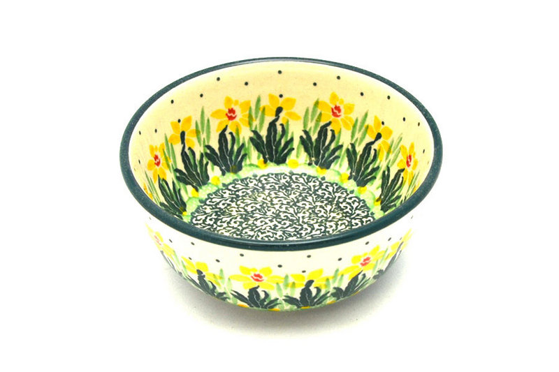Ceramika Artystyczna Polish Pottery Bowl - Ice Cream/Dessert - Daffodil 017-2122q (Ceramika Artystyczna)
