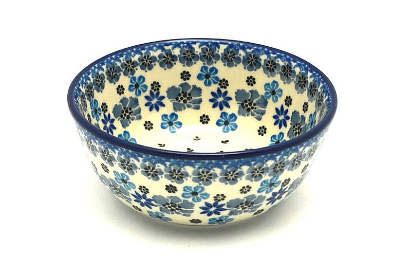 Ceramika Artystyczna Polish Pottery Bowl - Ice Cream/Dessert - Denim Daisy 017-1985a (Ceramika Artystyczna)