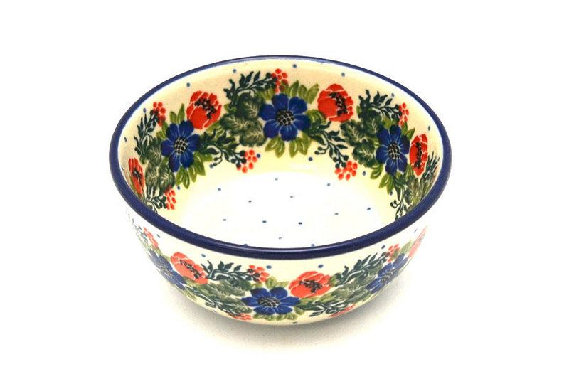 Ceramika Artystyczna Polish Pottery Bowl - Ice Cream/Dessert - Garden Party 017-1535a (Ceramika Artystyczna)