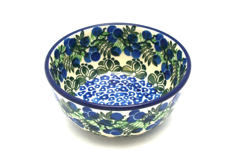 Ceramika Artystyczna Polish Pottery Bowl - Ice Cream/Dessert - Huckleberry 017-1413a (Ceramika Artystyczna)